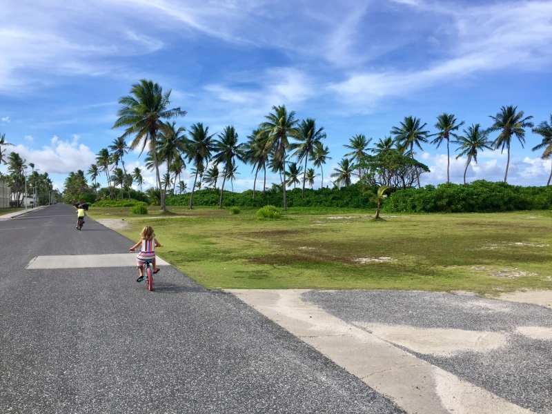 Kids Riding Bikes on Kwajalein