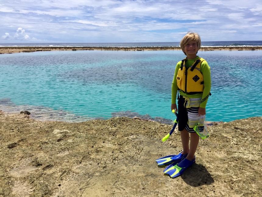 Brad snorkeling