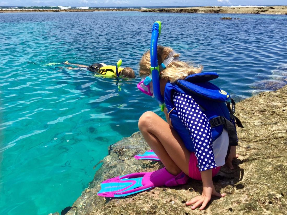 Nora snorkeling
