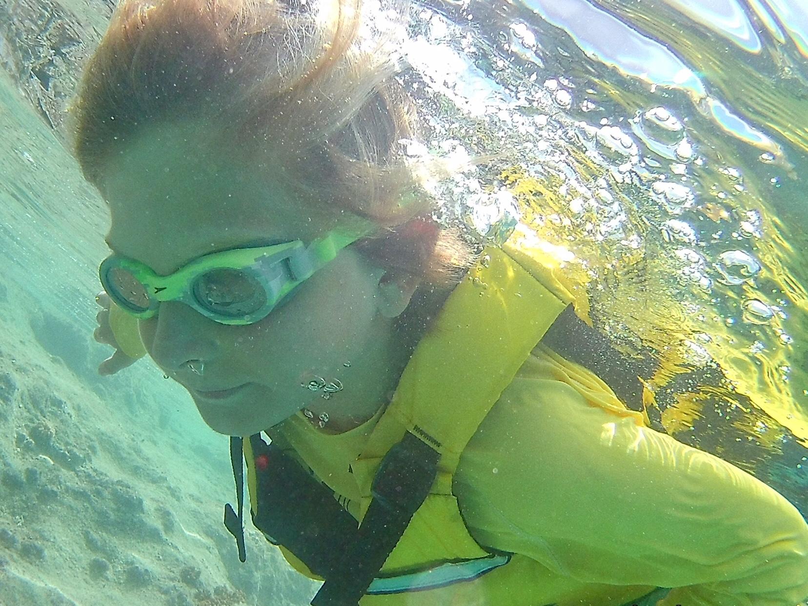 Brad underwater