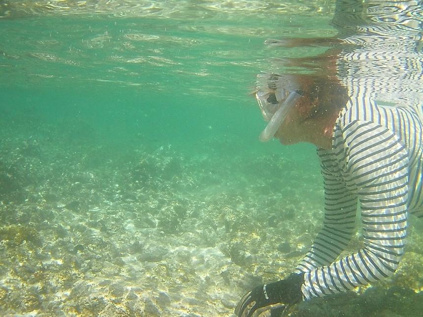 Mom in the tide pool